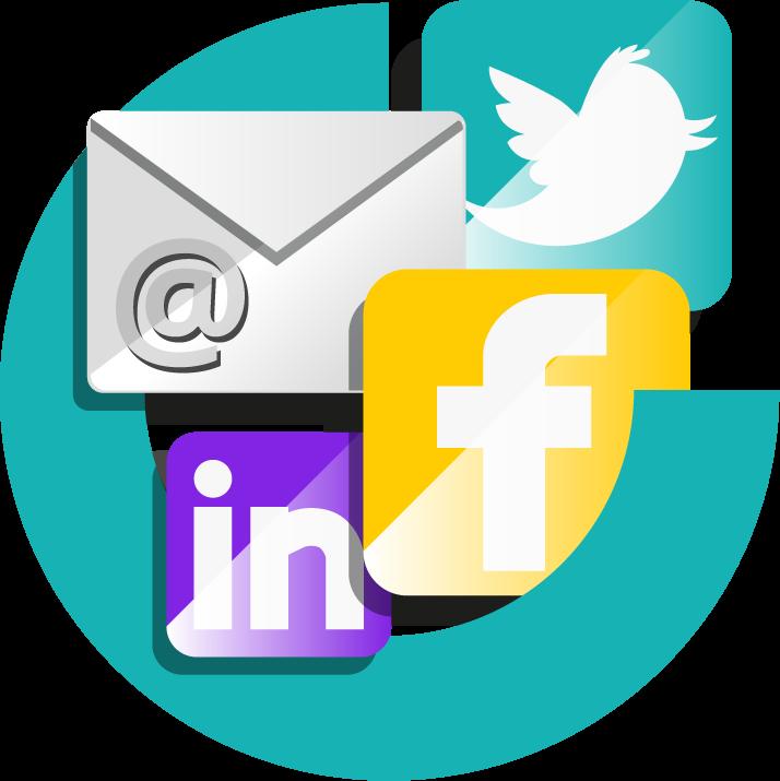 nieuwsbrief en social media campagne