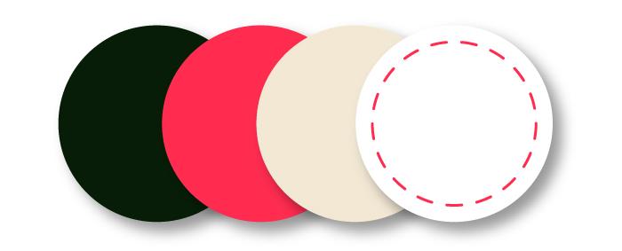 Het kleurenspectrum van Ropaflex is actief, alarmerend en heeft toch een zachte touch. Het stippel lijntje staat voor de stiksels.